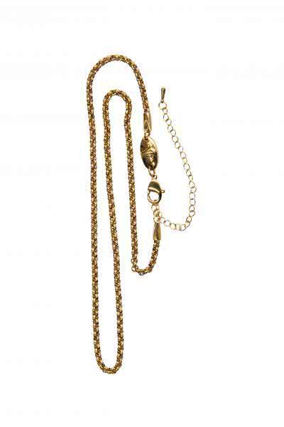 Glieder Halskette goldfarben