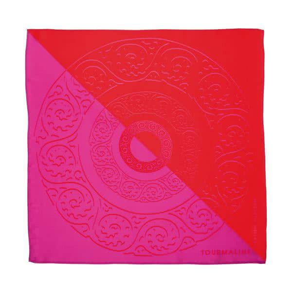 Silk scarf pink/red