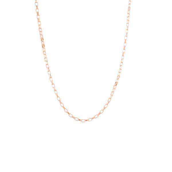Glieder-Halskette mit Magneten (50 cm) - roségold