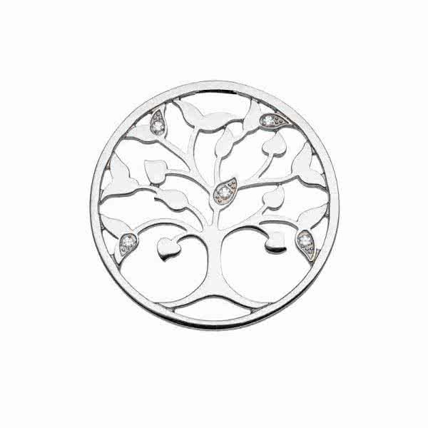Magnetanhänger Tree of Life, 45 mm, mit funkelnden Zirkonia