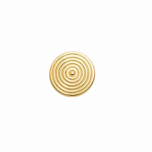 Schmuckelement Kreis-Design goldfarben für Magnetschmuck Kollektion Silikon