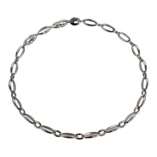 Zeitlose Glieder Halskette Edelstahl