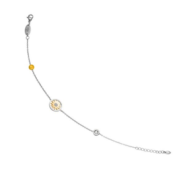 Magnetic anklet Sun in bicolour design