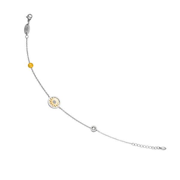 """Magnet-Fußkette """"Sonne"""" im Bicolor-Design"""
