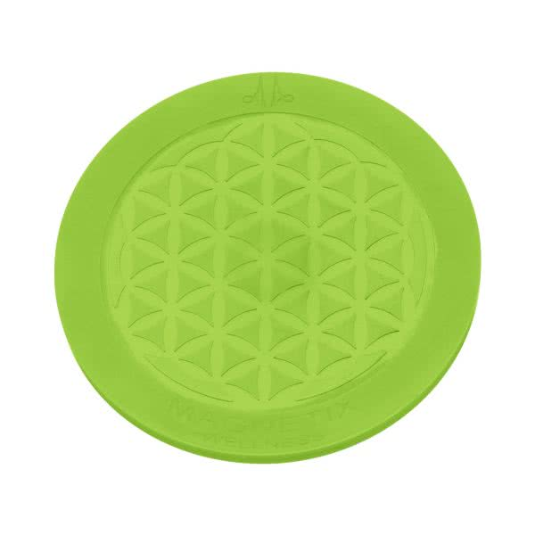 Magnet Untersetzer aus Silikon in Chakra-Farben