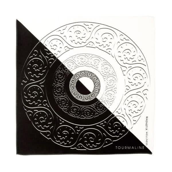 Seidentuch schwarz, weiß 53x53 cm