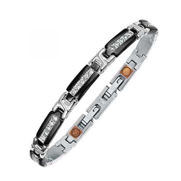Armband Schwarz mit Zirkonia
