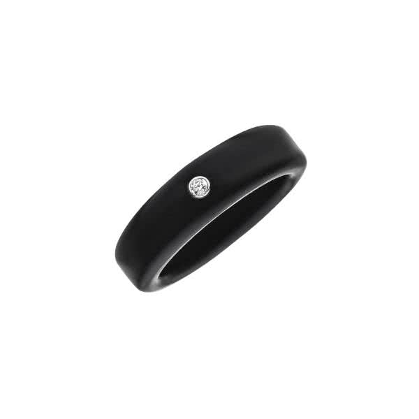 Magnetic ring made of silicone with zirconia and negative ions