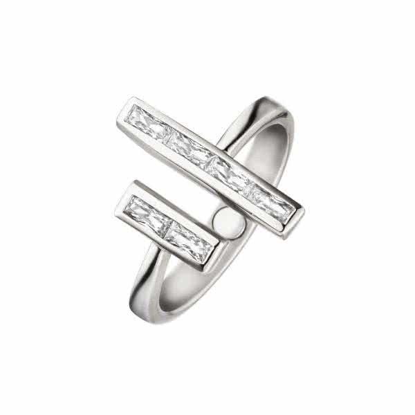 Magnetic ring in trendy design with zirconia