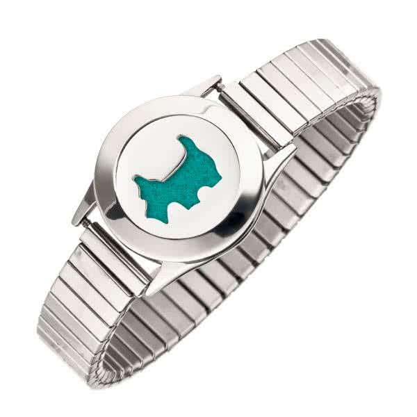 Dans un ensemble : Bracelet magnétique flexible pour bijoux parfumés avec disque, couvercle, disque et plaque de feutre