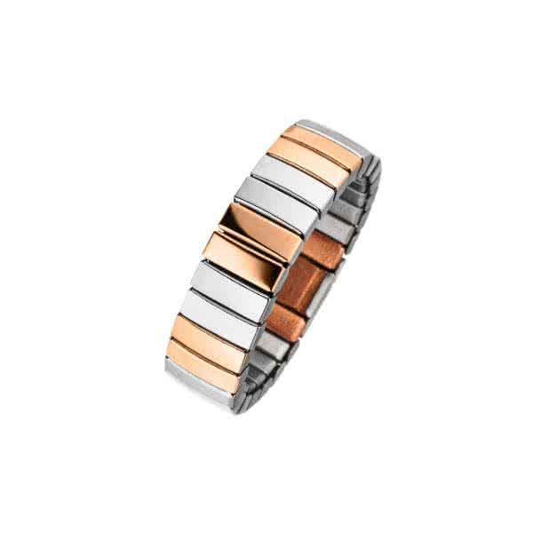 Flexible magnetic ring in bicolour design with copper