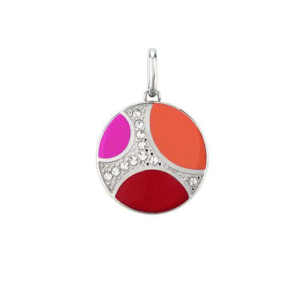 Magnetanhänger Orbitas Medaillon groß - rot / orange / pink