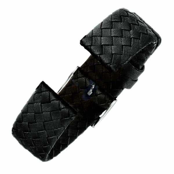 """Leather Bracelet """"wide-plaited"""""""