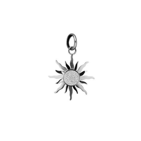 Sonnen Magnet-Anhänger klein – silber