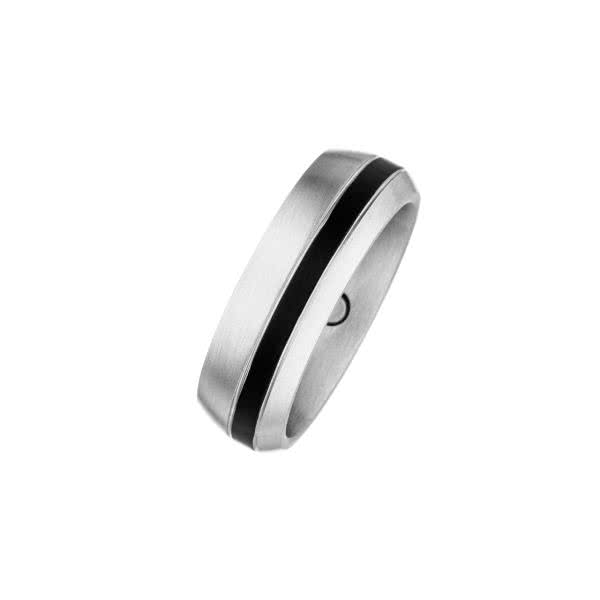 Magnet-Ring Black Stripe