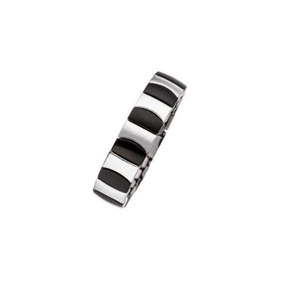 Flexi Ring bicolor schwarz-edelstahl