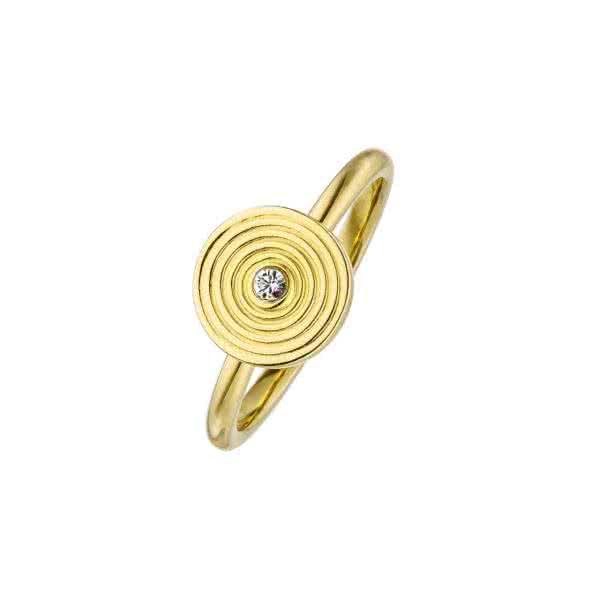 Magnet-Ring Kreis-Design goldfarben