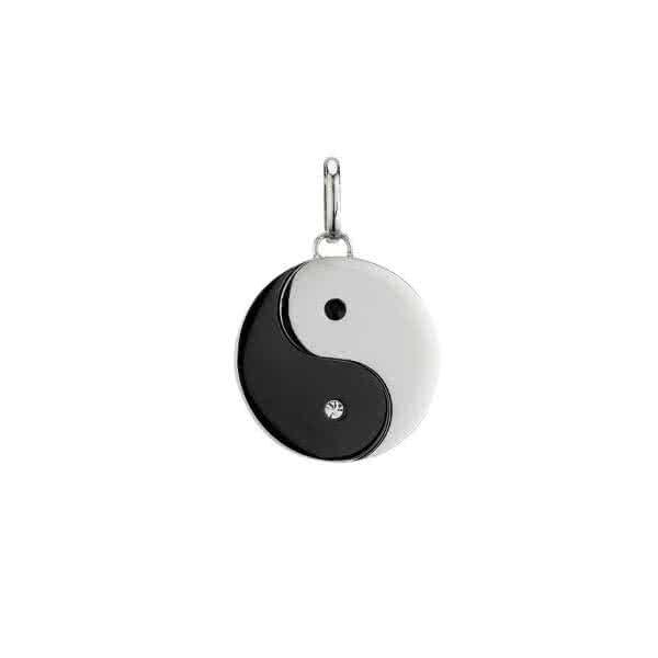 Yin-Yang Magnetanhänger groß – schwarz weiß