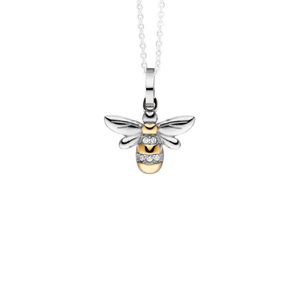 Magnetanhänger Honeycomb Biene bicolor mit Kristallen für Ketten und Armbänder