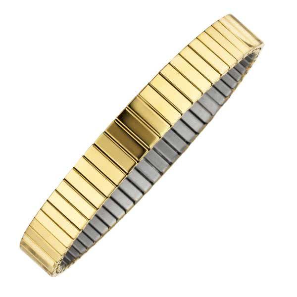 Flexibles Magnet-Armband in puristischem Design mit Kupfer-Elementen